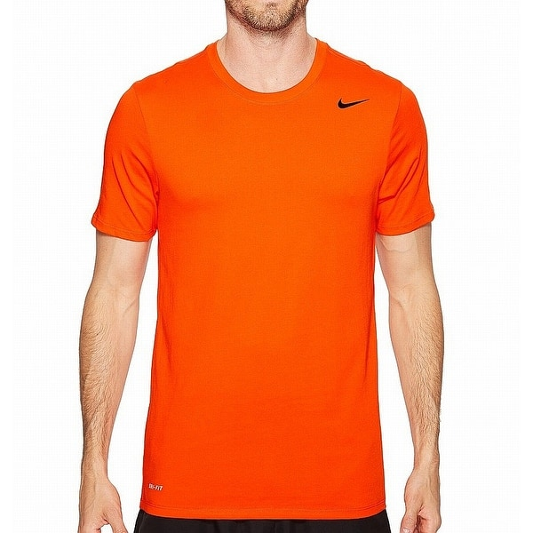 fronzolo cura Intarsio  Shop Nike Orange Mens Size Large L Crewneck Short-Sleeve Dri-Fit Tee T-Shirt  277 - Overstock - 22086348