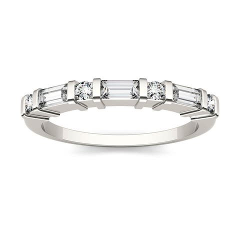 14k White Gold 1/2ct Moissanite Stackable Band