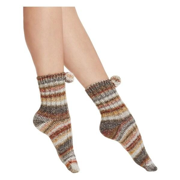 Free People Womens Casual Socks Knit Striped - o/s