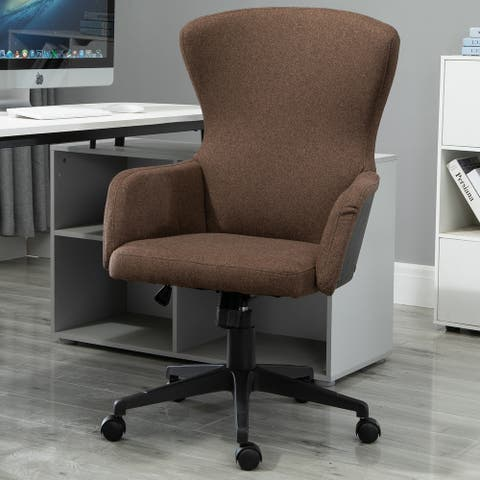 Vinsetto Ergonomic Rolling Office Desk & Computer Chair with 5 Castor Wheels & Easy Adjustable Height/Rock