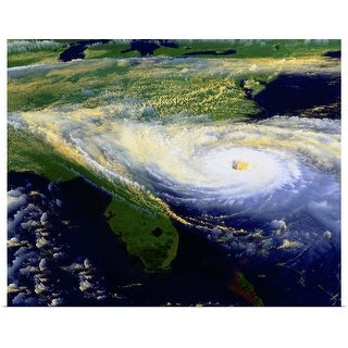 """""""Hurricane from Space"""" Poster Print"""