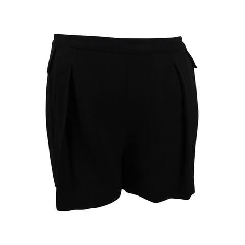 Vince Camuto Women's Pleated Shorts (14, Rich Black) - Rich Black - 14