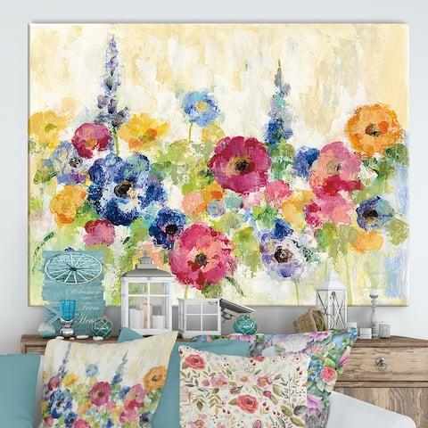 Designart 'Sunshine Field Flowers' Canvas Wall Art
