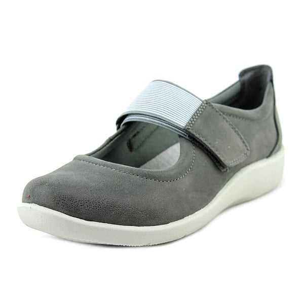 Clarks Cloudsteppers Sillian Cala Women W Round Toe Synthetic Gray Mary Janes