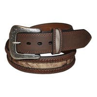 G-BAR-D Western Belt Mens Camo Overlay Lace Brown