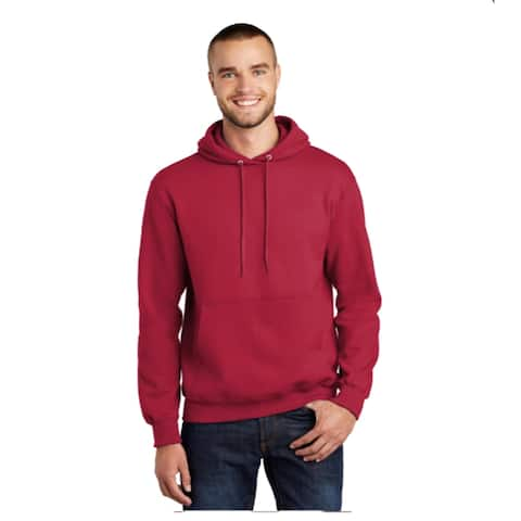 One Country United Men's Red LARGE Hooded Sweatshirt