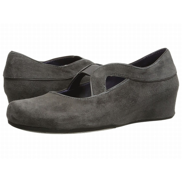 3b94adb9657c Shop Vaneli NEW Gray Shoes Size 8W Suede Cutout Wedges Sandals ...