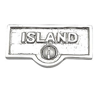 Switch Plate Tags ISLAND Name Signs Labels Chrome Brass