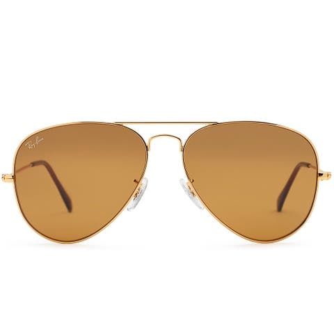 Ray-Ban RB3025 58mm Aviator Classic Sunglasses (Gold/Brown)