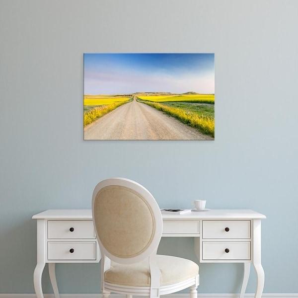 Easy Art Prints Chuck Haney's 'Gravel Road To West Rainy Butte' Premium Canvas Art