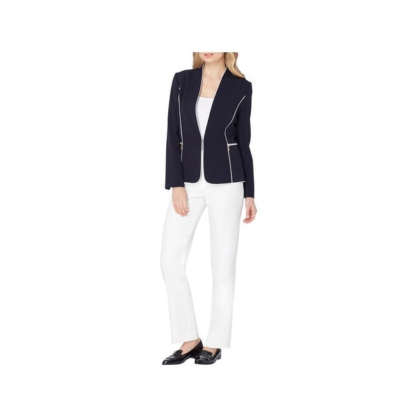 fc533f97f977 Shop Tahari ASL Womens Pant Suit Piped Work Wear - Free Shipping Today -  Overstock - 22581755