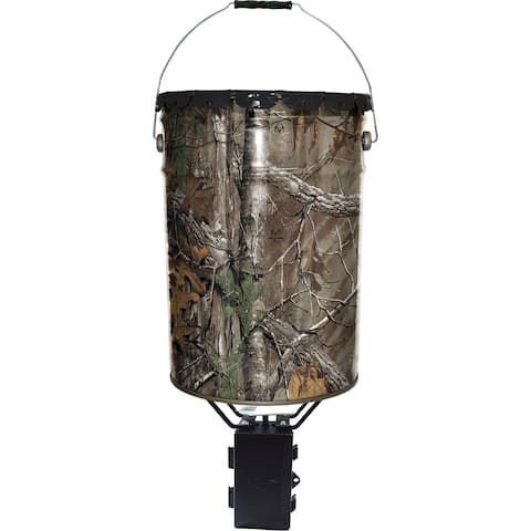 Wildgame W50P Quick-Set 50 RealTree Camo Pail Feeder with Digital Timer, 50 Lb