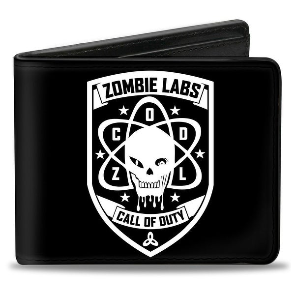 Call Of Duty Zombie Labs Badge Black White Bi Fold Wallet - One Size Fits most