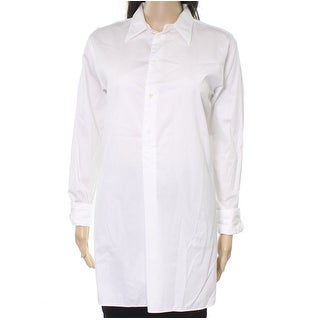 Polo Ralph Lauren NEW White Womens Size 10 Button-Down Tunic Blouse