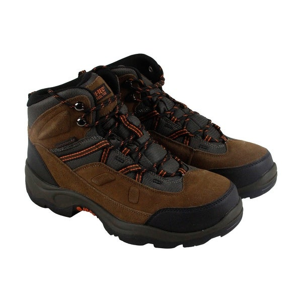 Hi-Tec Bandera Pro Mid Steel Toe Mens Brown Leather Oxfords Shoes