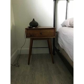 Aksel Brown Wood 1-drawer End Table iNSPIRE Q Modern