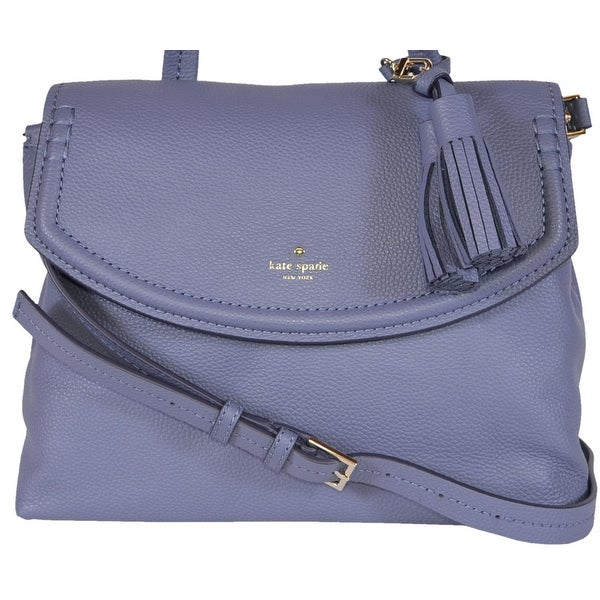 980790d3bae7 Kate Spade Oyster Blue Leather Orchard Street Cambria Convertible Purse Bag