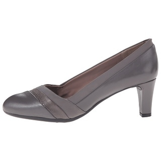 Easy Spirit Womens Nareen Leather Cap Toe Classic Pumps