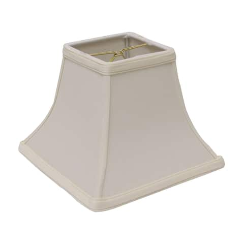 Cloth & Wire Slant Square Bell Hardback Lampshade with Bulb Clip, Egg