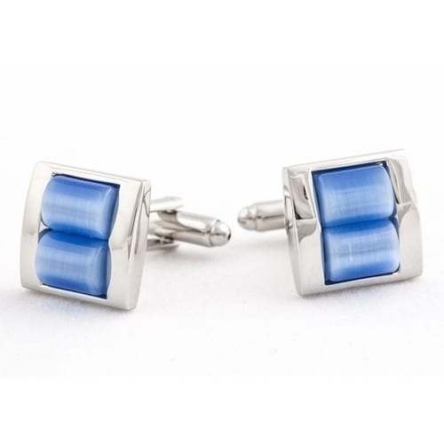 Royal Blue Stacked Cufflinks