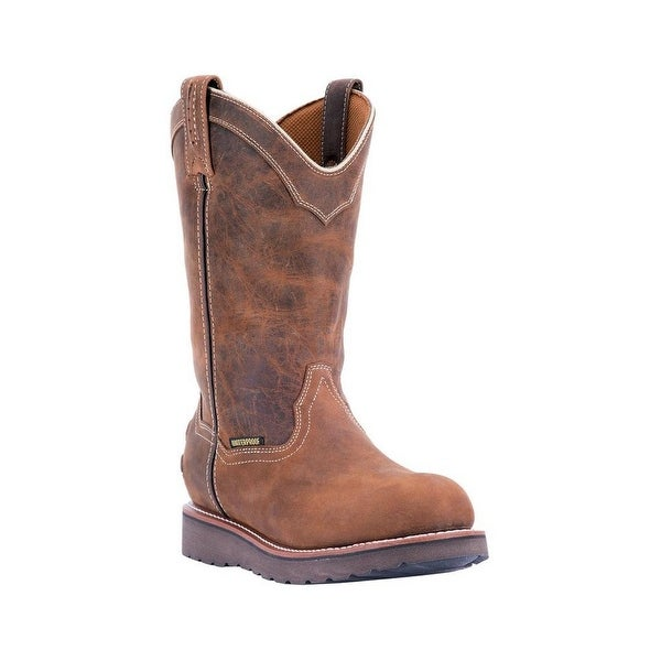 Dan Post Western Boots Mens Wellington Work Leather Brown