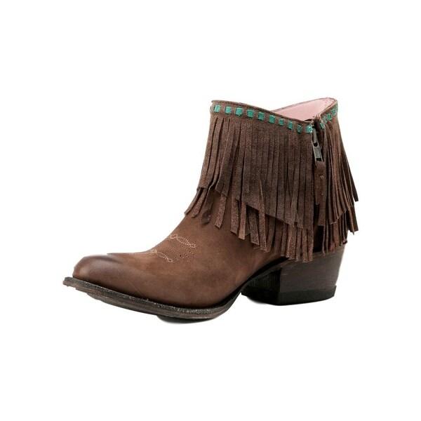 Miss Macie Fashion Boots Womens Fringe Benefits Zip Chocolate
