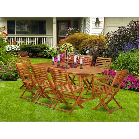 Acacia Wood Outdoor Patio Set offers an Outdoor Table & Foldable Chairs (Number of chair option)