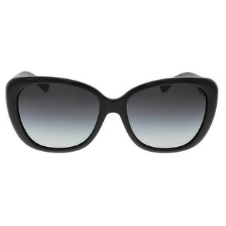 Coach HC8136 500211 Charlotte Black Oval Sunglasses
