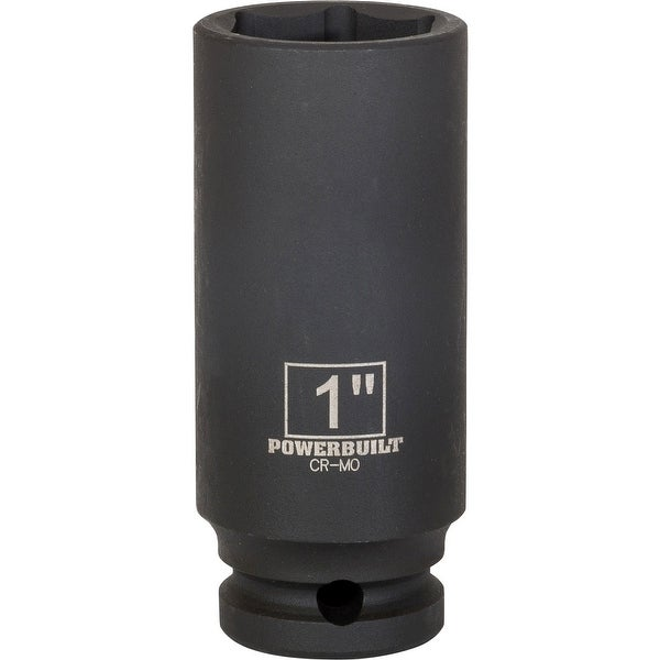 "Powerbuilt 1/2"" Dr. 1"" Deep Impact Socket - 647178"