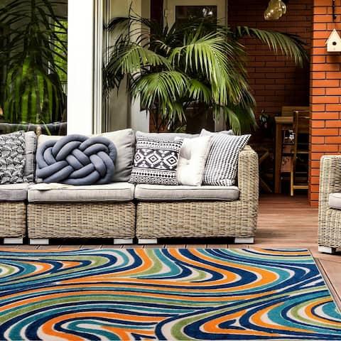 Modern Waves Indoor/Outdoor Area Rug
