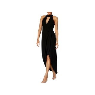 Xscape Womens Midi Dress Halter Sleeveless - 8