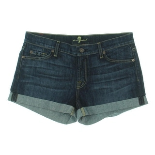 7 For All Mankind Womens Casual Shorts Denim Cuffed Hem - 27