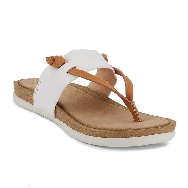 G.H. Bass & Co. Womens Shannon Leather Sunjuns Sandal Shoe