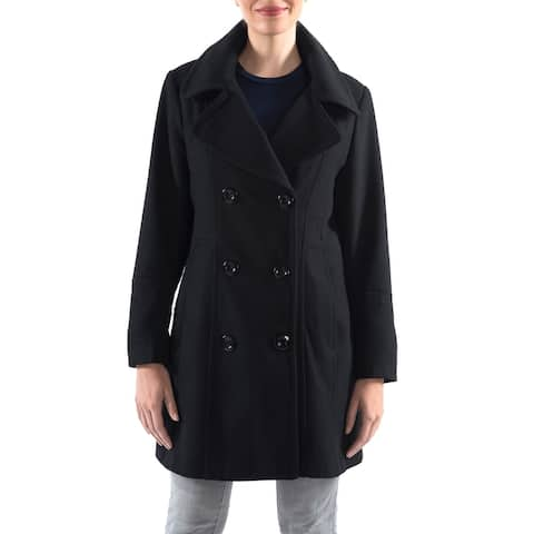 Alpine Swiss Norah Womens Wool Blend Double Breasted Peacoat