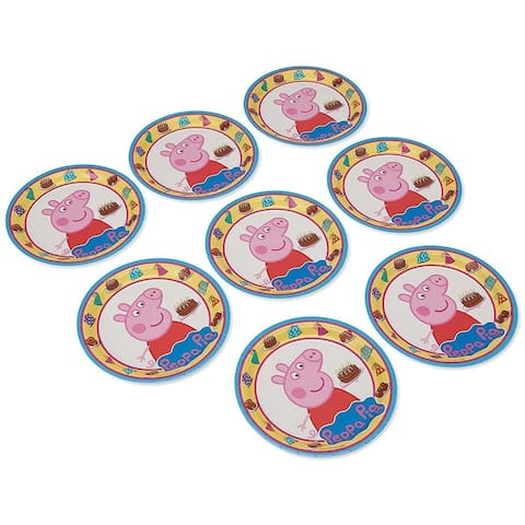 """Peppa Pig 9"""" Round Paper Plates, 8 Count - Multi"""
