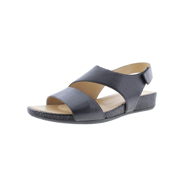 Naturalizer Womens Yessica Wedge Sandals Leather Snake Trim