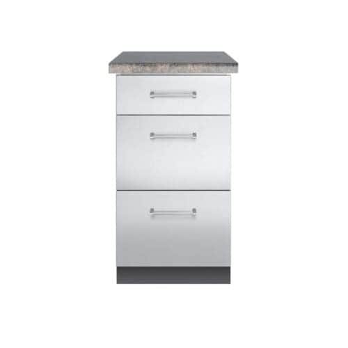 Shop Viking VBO1830 18 Inch Wide Stainless Steel Cabinet For Outdoor Grill  Installations With 3 Drawers   Free Shipping Today   Overstock   17286896