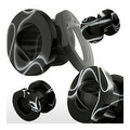 Screw Fit UV Marble Swirl Black Plug (Sold Individually) - Thumbnail 0