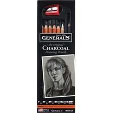 Assorted Degrees - Charcoal Pencil Set 6/Pkg