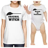 Witch In Training Mom and Baby Matching Shirts White Baby Bodysuit
