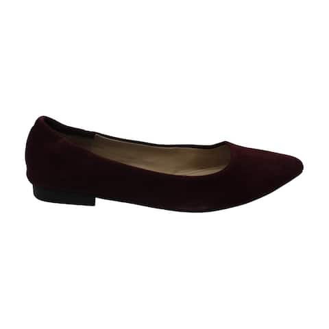 American Rag Womens Jilly Leather Pointed Toe Ballet Flats