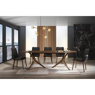 Modrest Utah Modern Walnut Dining Set