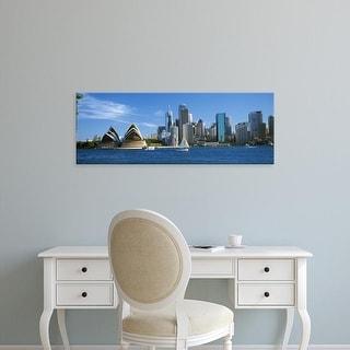Easy Art Prints Panoramic Image 'Australia, New South Wales,Sydney harbor, Sydney Opera House and city' Canvas Art