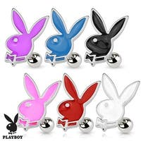 Playboy Bunny 316L Surgical Steel Cartilage/Tragus Barbell (Sold Individually)
