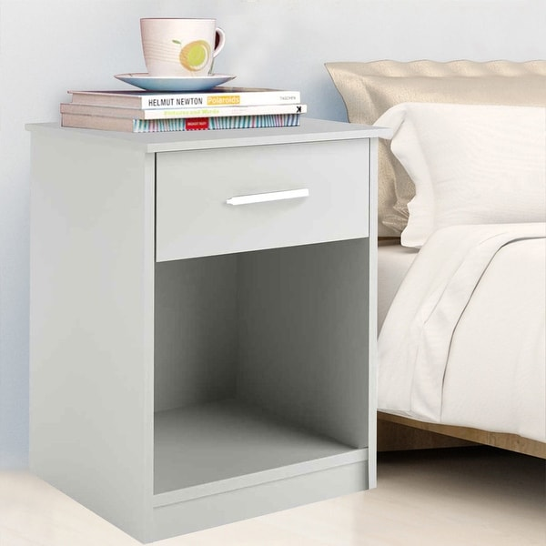 Shop COSTWAY White Night Stand Bedroom Stand Bedside