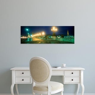 Easy Art Prints Panoramic Images's 'Evening Paris France' Premium Canvas Art
