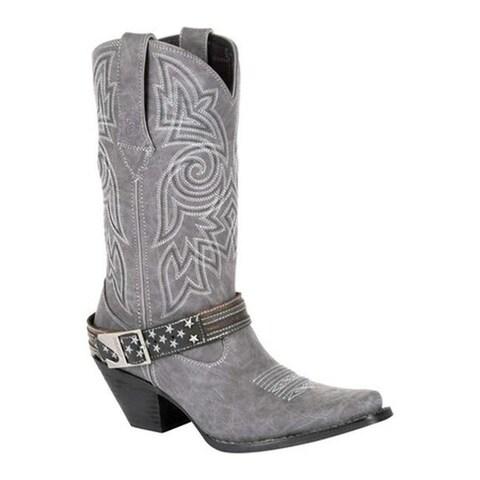 Durango Boot Women's DRD0329 Maverick XP Ventilated Western Work Boot Distressed Graphite Textile