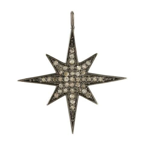925 Sterling Silver Diamond Star Pendants Pave Jewelry By Artisan