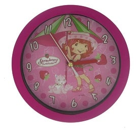 Strawberry Shortcake Small Wall Clock In Hot Pink