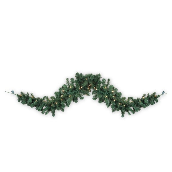 6' Pre-Lit Deluxe Green Windsor Pine Artificial Christmas Garland - Clear Lights